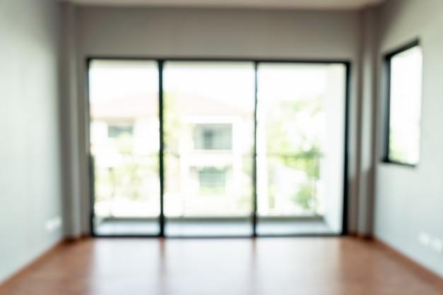 창과 집에 추상 흐림 빈 방