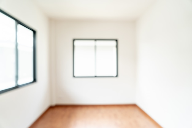 Abstract blur empty room with window and door in home
