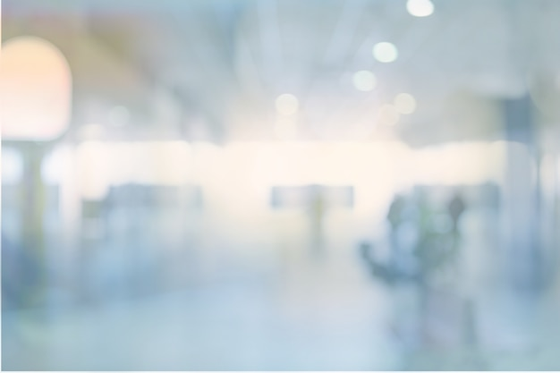 Abstract blur exhibition hallway corridor background - color tone effect