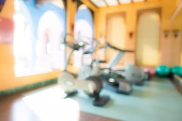 Abstract blur fitness and gym interior