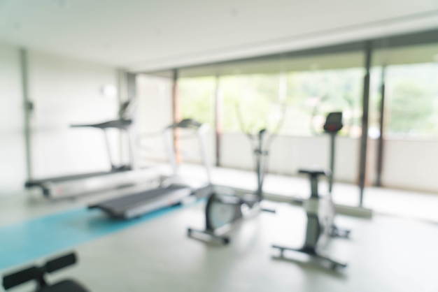 Abstract blur fitness gym room interior background