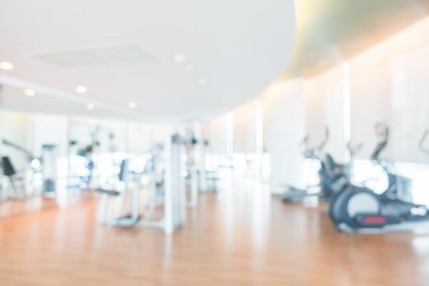 Abstract blur fitness and gym room