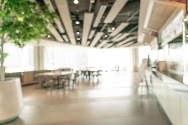Абстрактный размытие фуд-корт в торговом центре для фона