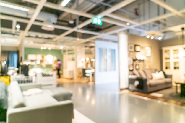 抽象的なぼかし家具の装飾と倉庫の店内