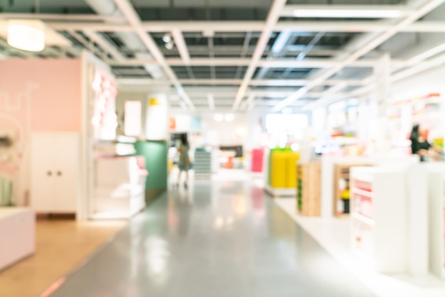 Abstract blur furniture decoration and warehouse store interior