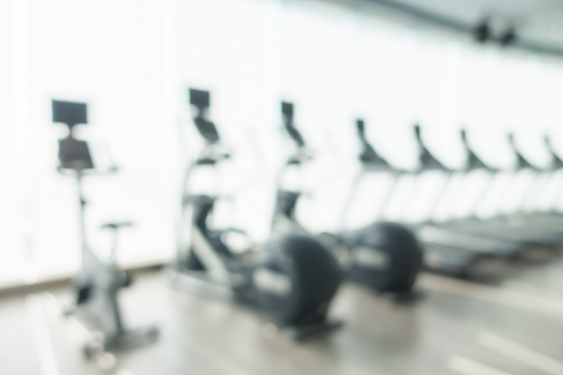 Abstract blur gym and fitness room interior