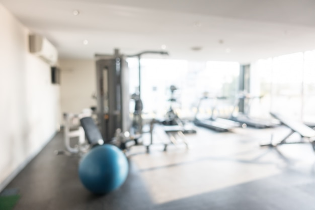 Abstract blur gym and fitness