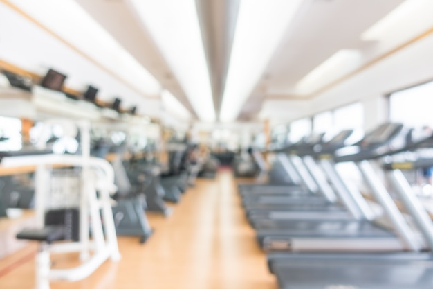 Abstract blur gym