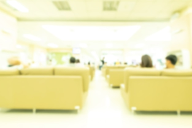 Интерьер больницы и медицинской клиники абстрактный размытия.