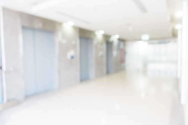 Abstract blur hospital interior for background