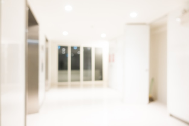 Abstract blur hotel and lobby interior