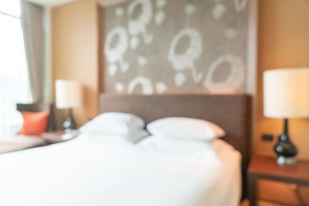 Abstract blur hotel resort bedroom for background