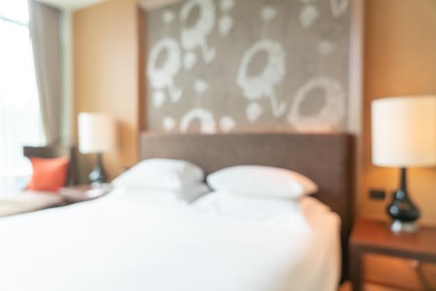 背景の抽象的なぼかしホテルリゾートの寝室