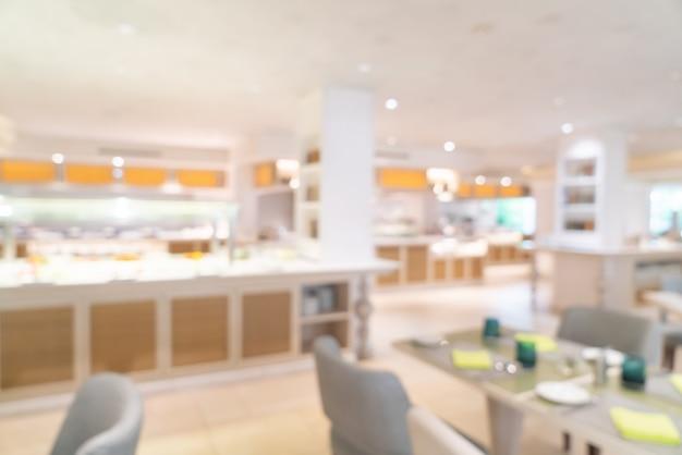 Abstract blur hotel restaurant