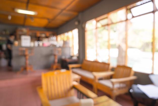 コーヒーショップやカフェレストランで抽象的なぼかし