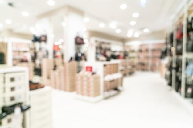 배경에 대한 쇼핑몰 및 소매점의 추상 흐림