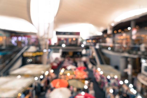 ショッピングモールの抽象的なぼかし