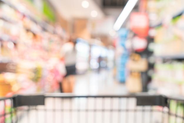 Абстрактное размытие в супермаркете