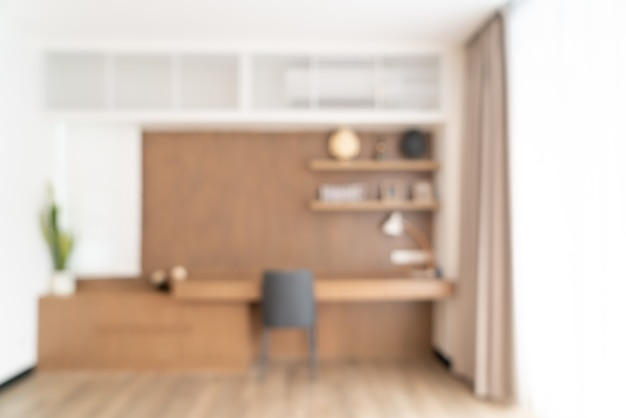 Abstract blur living room for background