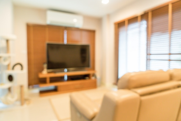 Abstract blur living room interior