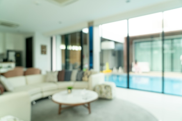 Abstract blur living room for