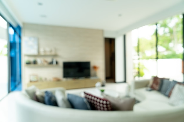 Abstract blur living room