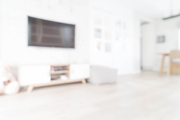 Abstract blur in living room