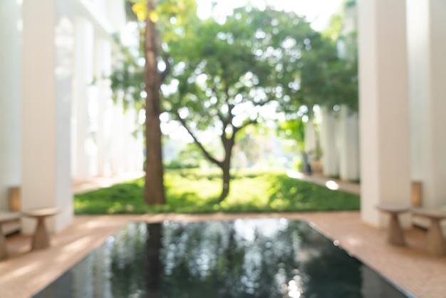 Абстрактный размытие лобби отеля для фона