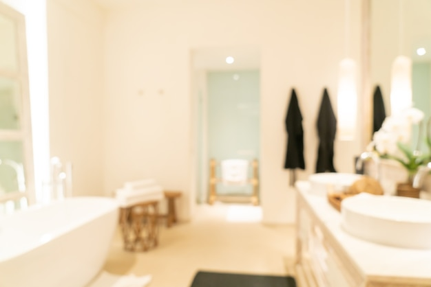 Abstract blur luxury bathroom in hotel resort for background