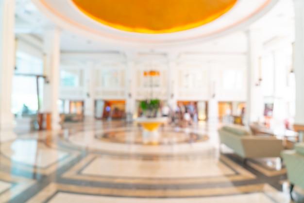 Абстрактное размытие фойе роскошного отеля и лаундж для фона