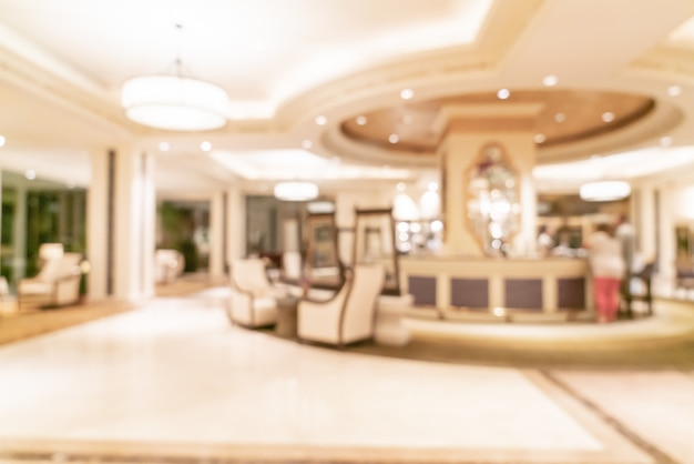 Abstract blur luxury hotel lobby for background