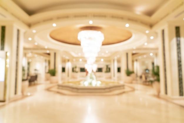 抽象的なぼかしの背景に高級ホテルのロビー