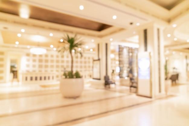 背景の抽象的なぼかし高級ホテルのロビー