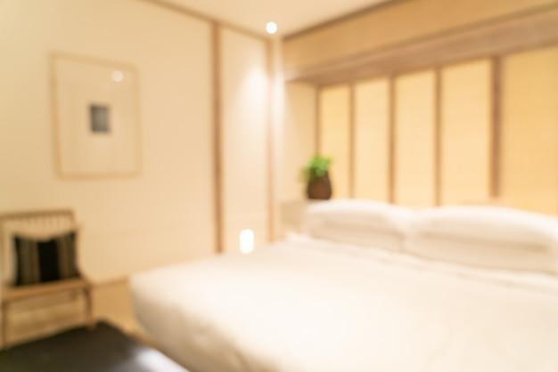 背景の抽象的なぼかし高級ホテルリゾートの寝室のインテリア