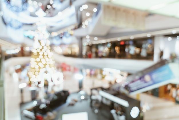 抽象的なぼかしの高級ショッピング モールと小売店