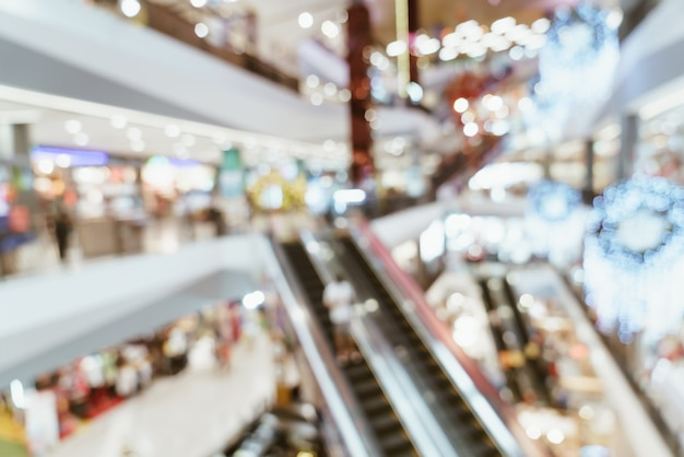 Abstract blur luxury shopping mall and retail store for background