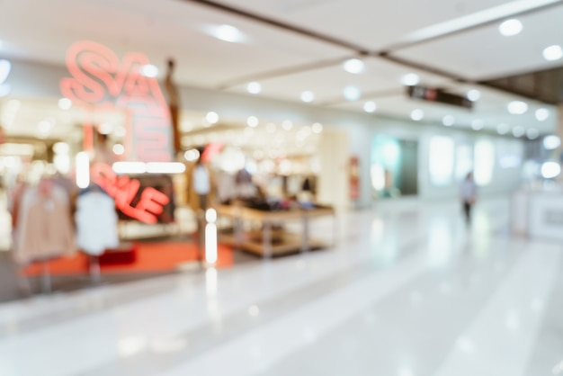 Abstract blur luxury shopping mall and retail store