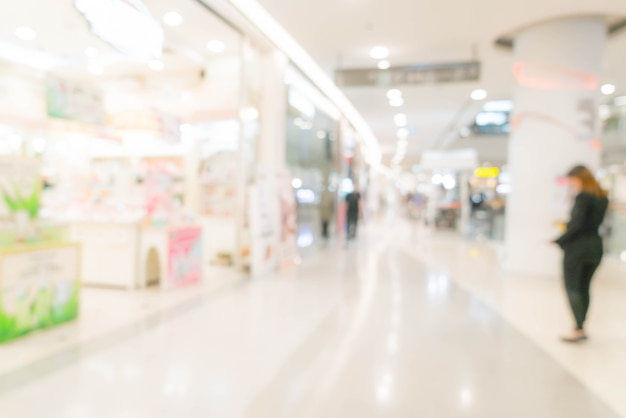 Abstract blur in luxury shopping mall and retail store