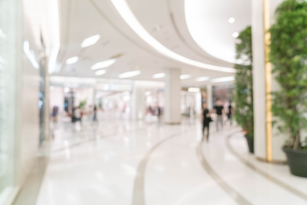 Abstract blur in luxury shopping mall