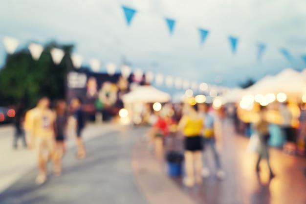 Abstract blur market at shopping mall