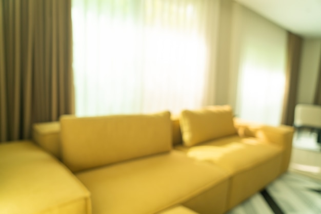Абстрактное размытие современной и роскошной гостиной для фона