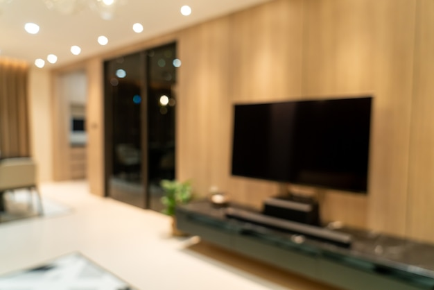 Abstract blur modern and luxury living room for background