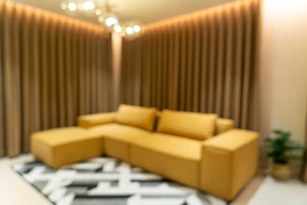 Abstract blur modern and luxury living room