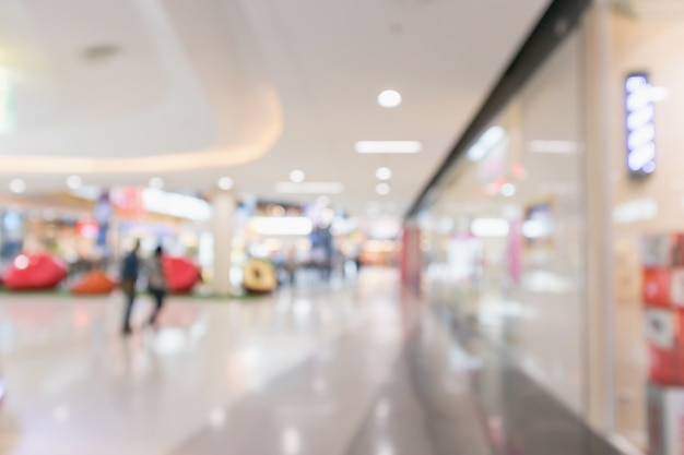 Abstract blur modern shopping mall interior defocused background