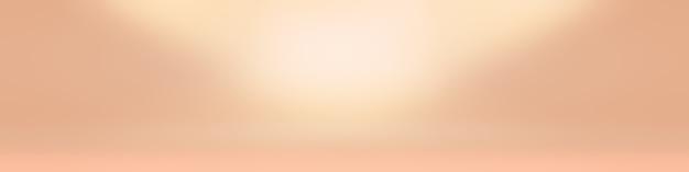 バナー、スライドショーなどのデザインのためのパステルカラーの美しいピーチピンク色の空の暖かいトーンの背景の抽象的なぼかし