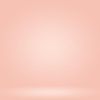 バナースライドとしてデザインするためのパステルカラーの美しいピーチピンク色の空の暖かいトーンの背景の抽象的なぼかし...