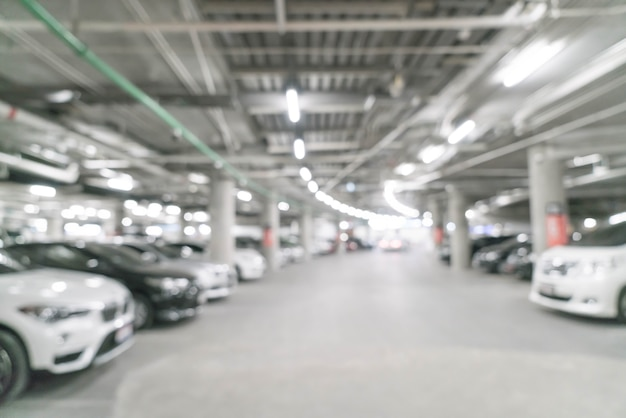 Abstract blur in parking car