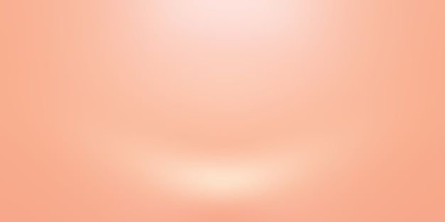 Abstract blur of pastel beautiful peach pink color sky warm tone background for design as banner,slide show or others