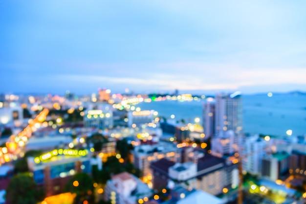 Abstract blur pattaya city