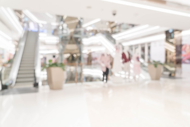 Abstract blur retail store in luxury shopping mall